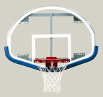 54''W x 39''H Extended Life Competition Fan-Shaped Glass Backboard [BA44XL-BIS]