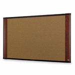 3M Commercial Office Supply Div. Cork Boards - Graphite Blend - 6' x 4' - Mahogany [MMMC7248MY-FS-SP]