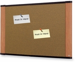 3M™ Wide Screen Graphite Blend Cork Board w/ Aluminum Frame 36''W x 24''H [C3624LC-FS-TM]