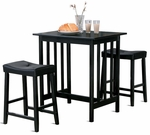 3Pc Black Breakfast Set [5310BK-3A-FS-HOM]