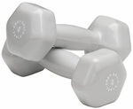 4 lb Pair Vinyl Dumbbells-Light Gray [BSTVD4PR-FS-BODY]