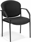 Manor Guest and Reception Fabric Chair with Arms - Black [404-805-MFO]