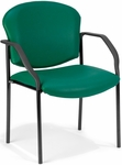 Manor Anti-Microbial and Anti-Bacteria Vinyl Guest and Reception Chair with Arms - Teal Vinyl [404-VAM-602-MFO]