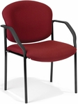 Manor Guest and Reception Fabric Chair with Arms - Wine [404-803-MFO]