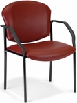 Manor Anti-Microbial and Anti-Bacteria Vinyl Guest and Reception Chair with Arms - Wine Vinyl [404-VAM-603-MFO]