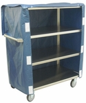 4 Shelf Stainless Steel 48'' H Cart with Cover [ZL236-U5-AS-JAM]