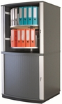 Moll 4 - Tier 2 LockFile Rotating Carousel Storage Cabinet - Gray [LF4-FS-EOS]