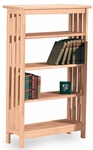 Mission 4 Tier Solid Parawood 30''W X 48''H Shelf Unit - Unfinished [SH-4830M-FS-WHT]