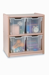 Melamine Storage Unit with 4 Large Gratnell Jumbo Trays [WB0704-FS-WBR]