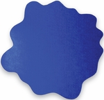 40'' x 40'' Cleartex Sploshmat Floor Protection Mat for Low Pile Carpets Up to .25'' Thick - Caribbean Blue [FC114040PBV-FS-FTX]