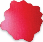 40'' x 40'' Cleartex Sploshmat Floor Protection Mat for Low Pile Carpets Up to .25'' Thick - Volcanic Red [FC114040PRV-FS-FTX]