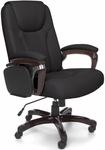 Oro Designer High Back Multi Task Tablet Chair - Black Bonded Leather [ORO300-BLK-FS-MFO]