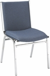 400 Series Stacking Square Steel Frame Armless Hospitality Chair with Full Back and 2'' Upholstered Seat [420-IFK]