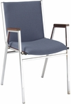 400 Series Stacking Square Steel Frame Hospitality Armchair with Full Back and 2'' Upholstered Seat [421-IFK]