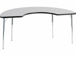 4000 Series 36''W x 72''L Half-Moon Top Laminate Activity Table with Wheelchair Height Legs [48COOP72W-VCO]