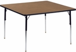 4000 Series Square Laminate Activity Table with Wheelchair Height Legs - 48''W x 48''D x 26''H - 34''H [484848W-VCO]