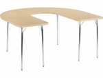 4000 Series 60''W x 66''L Deep-Center Horseshoe Top Laminate Activity Table [48HORSE60DCN-VCO]
