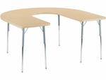 4000 Series 60''W x 66''L Deep-Center Horseshoe Top Laminate Activity Table with Wheelchair Height Legs [48HORSE60DCW-VCO]