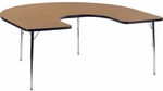 4000 Series Horseshoe Top Laminate Activity Table with Chrome Legs - 60''W x 66''D x 22''H - 30''H [48HORSE60CHRM-VCO]