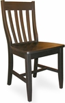 Schoolhouse Solid Parawood Armless 41''H Dining Chair - Set Of 2 - Black [C46-61P-FS-WHT]