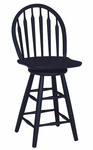Windsor Wooden 41''H Arrow Back Swivel Counter Height Stool - Black [S46-612-FS-WHT]