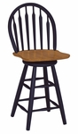 Windsor Wooden 41''H Arrow Back Swivel Counter Stool - Cherry [S57-612-FS-WHT]
