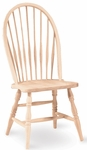 Windsor Parawood Armless Tall Spindle Back 41''H Side Chair - Unfinished [1C-969-FS-WHT]