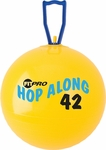 42 cm. FitPro Hop Along Junior Pon Pon Ball in Yellow - Ages 4-6 [PP42-FS-CHS]