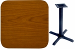 24'' x 42'' Double-Sided Rectangular Indoor Table Top - Standard Height Cross Base [CM2442-TB-24304-BFMS]