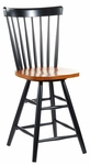 Copenhagen Wooden 42''H Swivel Counter Height Stool With Spindle Back - Cherry [S57-2902-FS-WHT]
