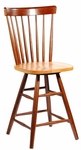 Copenhagen Wooden 42''H Swivel Counter Height Stool - Cinnamon [S58-2902-FS-WHT]