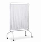 42 Inch Vinyl Panel Screen With 2 Inch Twin Wheel Casters - White [3420-FS-WIN]