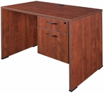 Sandia 42''W x 24''D Single Pedestal Laminate Desk with Locking Box File - Cherry [SSP4224CH-FS-REG]
