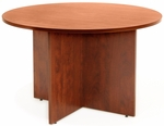 Legacy 42'' Round Wooden Conference Table with X Base - Cherry [LCTR42CH-FS-REG]