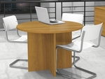 42'' Round Meeting Table with 1'' Melamine Top and PVC Edge - Cappuccino Cherry [65770-68-FS-BS]