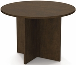 42'' Round Meeting Table with 1'' Melamine Top and PVC Edge - Chocolate [65770-69-FS-BS]