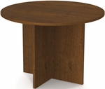 42'' Round Meeting Table with 1'' Melamine Top and PVC Edge - Tuscany Brown [65770-63-FS-BS]