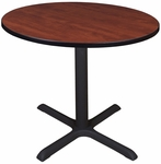 Sandia 42'' Round Laminate Table with Black PVC Edge - Cherry [SCTR42CH-FS-REG]