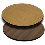 42'' Round Table Top with Reversible Natural or Walnut Laminate Top [BFDH-42NATWALRD-TDR]