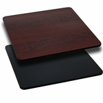 42'' Square Table Top with Reversible Black or Mahogany Laminate Top [BFDH-4242BKMAHSQ-TDR]