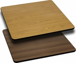 42'' Square Table Top with Reversible Natural or Walnut Laminate Top