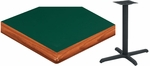 42'' Square Laminate Table Top with Bullnose Wood Edge and Base - Standard Height [ATWB4242-T3636M-SAT]