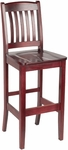 4400 Series Hardwood Frame Armless Cafe Barstool with Slatted Back and Wood Seat [BR4400-IFK]
