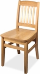 4400 Series Wood Frame Armless Cafe Chair with Slatted Back and Wood Seat [4400-IFK]