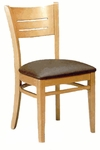 4545 Armless Side Chair with Wood Back - Grade 1 [4545-GRADE1-ACF]