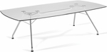 47.25'' D x 94.5'' W Glass Conference Table with Steel Base [GT4794-FS-MFO]