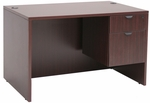 Legacy 47''W x 30''D Single Pedestal Wooden Desk with 2 Locking Drawers - Mahogany [LSP4730MH-FS-REG]