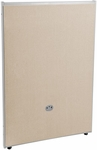 RiZe 47'' H x 31'' W Full Vinyl Floor Panel with Gray Frame - Beige Vinyl [P4731-GF-BV-MFO]