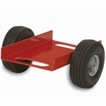 Heavy Duty Steel Frame Caddy with 12.25'' Channel and Airless Rubber Tires [470-RPC]