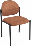 4700 Series Stacking Round Back Guest Chair with Black Steel Frame and Upholstered Back and Seat [4720-IFK]